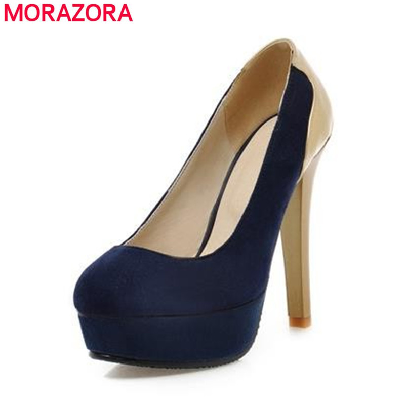 new fashion platform pumps women blue black red sexy round toe high heels party wedding shoes woman drop shipping shoes store(China (Mainland))