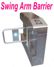 Cheapest Price Intelligent Swing Arm Turnstile Barriers +Automatic Reset Function Bi-direction For Hotel Office Building Port