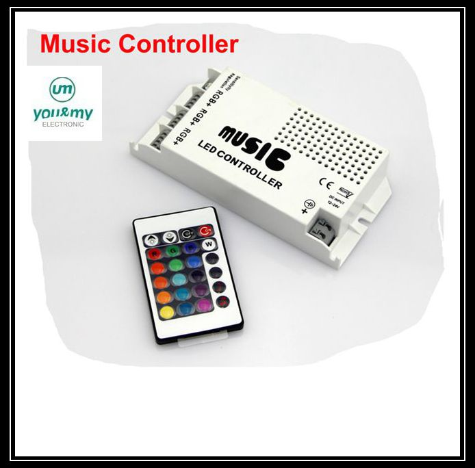 12-24V 24 Keys Wireless IR Remote Control LED Music Sound Control RGB led Controller Dimmer for RGB LED Strips 30PCS 10% OFF(China (Mainland))