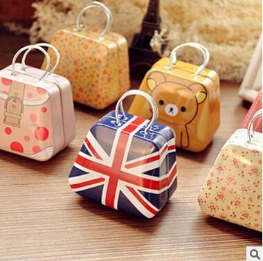 2016 new 9pcs/lots Handbags tin / mini candy box / tin box / creative wedding Favor Boxes gift 35x55x35mm(China (Mainland))