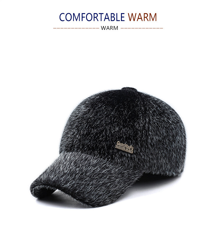 Detail Feedback Questions about 2018 Winter Men Warm Baseball Caps ... 04ce7c20f53c