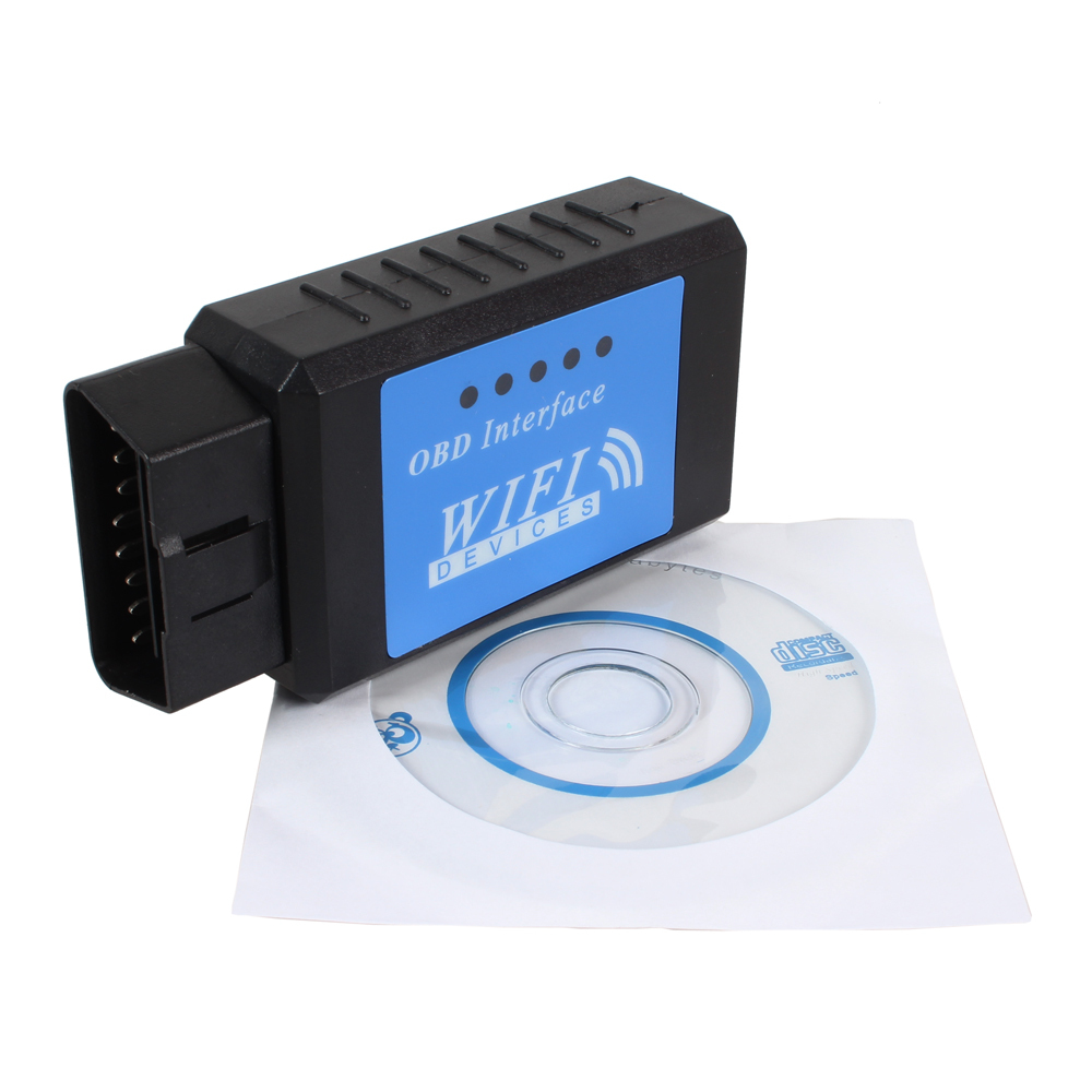 Car Diagnostic Tool WIFI OBD 2 Auto Diagnostic Interface Scanner Scan Tool Code Reader With CD(China (Mainland))
