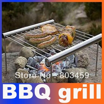 Super Deal Outdoor Camping Protable BBQ Grill Stainless Steel Simple Tube BBQ Free Shipping