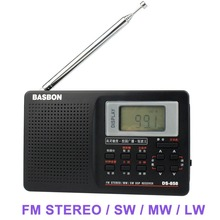 Portable Full Band FM stereo / MW /SW DSP Radio TV sound World Band Receiver with Timing Alarm Clock Y4298A Alishow