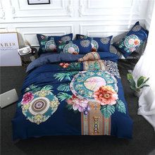 3Pcs/Set Bloom Flower Printed Duvet Cover Set 3D Bedding Sets Queen King Twin Size(China)