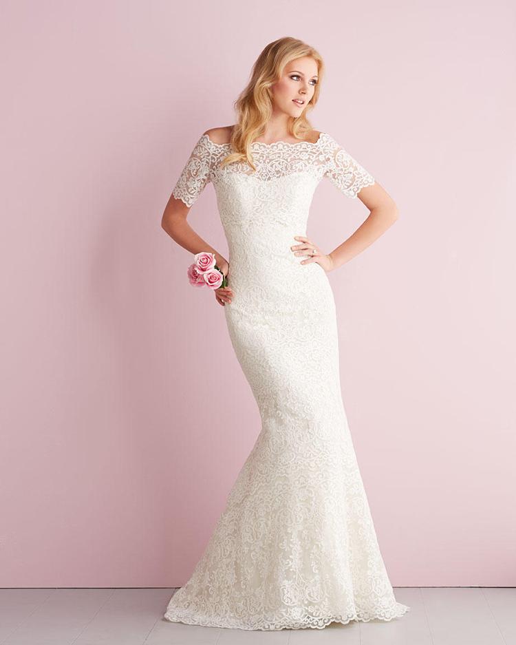 Vestido casamento бесплатная доставка половина рукава с курткой кружева русалка свадебное платье 2015 vestido noiva винтаж