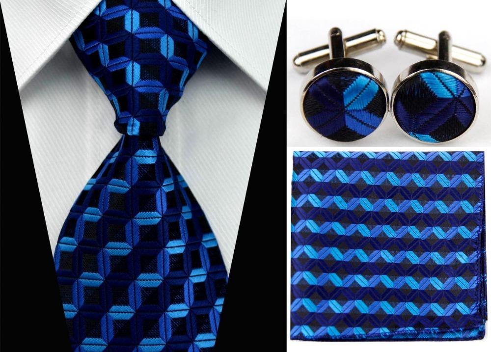 SNT0025 Men s Fashional Wedding Groom Striped Tie Hanky Cufflinks Necktie Set Silk necktie Free Shipping