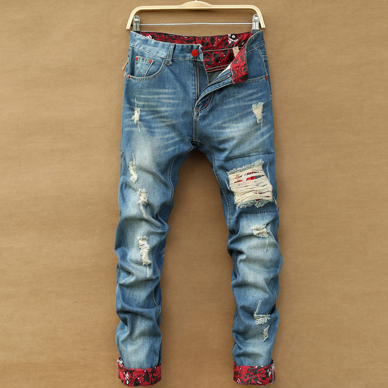 ripped bootcut jeans for men - Jean Yu Beauty