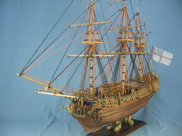 Sacle1/50 British silk-stocking Royal yacht model kit HMS Royal Caroline 1749 Ship model kit(China (Mainland))