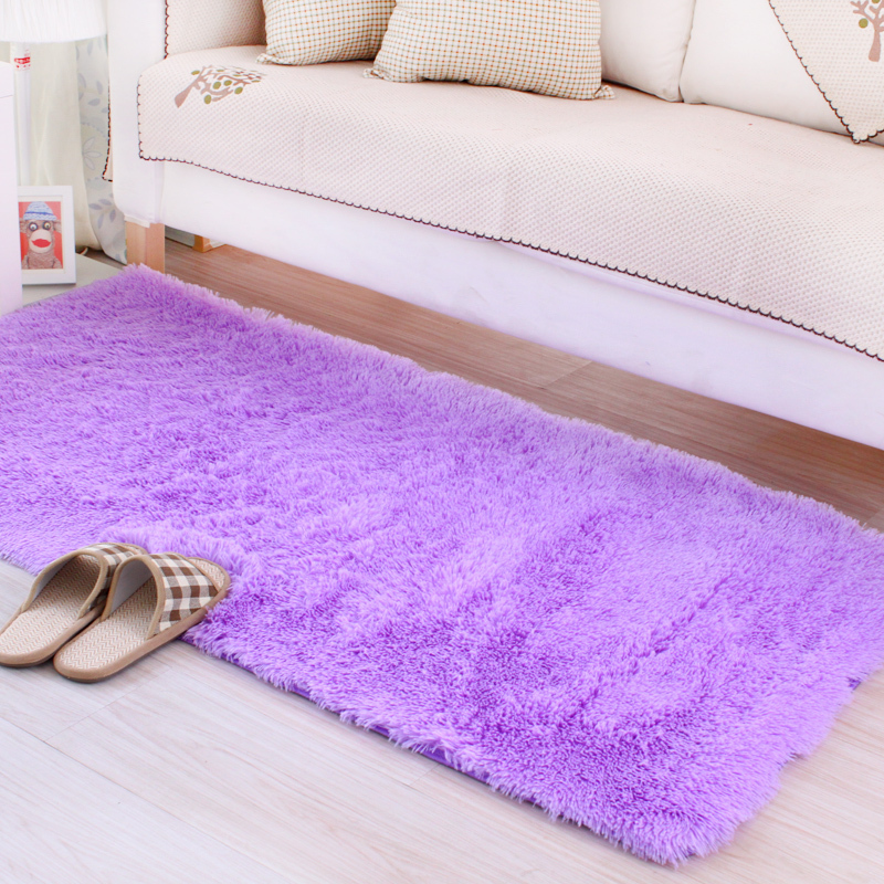 50*100/120/160CM Soft Big Carpets for Bedroom strip Bedside/strip/non-slip White/brown/green/pink/gray