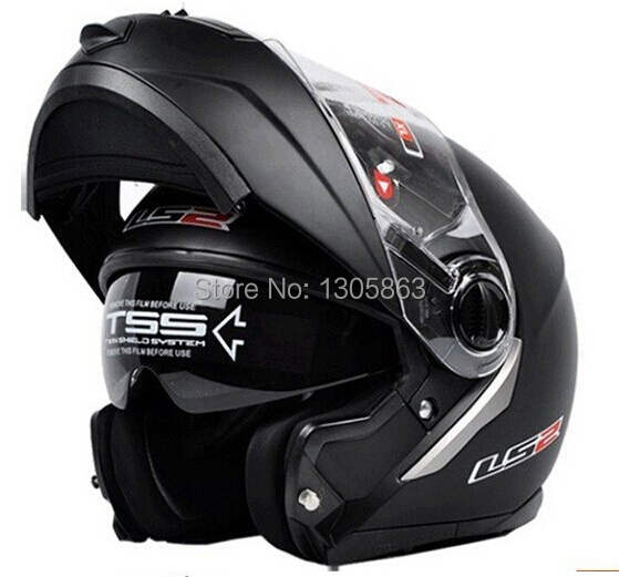 new LS2 FF386 helmet motorcycle helmet retro flip up double lens full face racing off-road motocross helmet DOT ECE approved(China (Mainland))