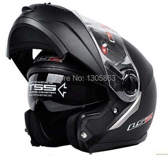 new LS2 FF386 helmet motorcycle helmet retro flip up double lens full face racing off-road motocross helmet DOT ECE approved(China (Mainland))