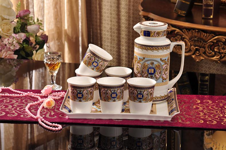 Bone china coffee cup set fashion tea set coffee pot cup and coffee tray set afternoon