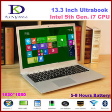 13.3 Inch 5th generation laptop i7 ultrabook computer with 8GB RAM+1T HDD+64G SSD 1920*1080,Metal Cover,8 cell battery,Windows