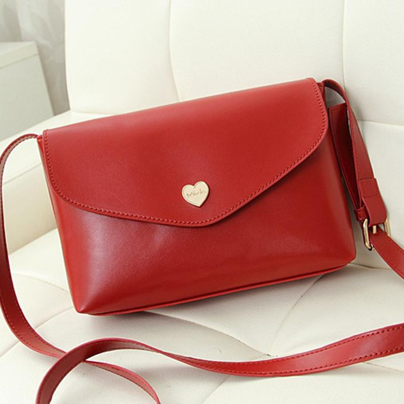 COUPON brand high quality Small mini Fashion Ladies Women flap Messenger crossbody Envelope shoulder Bags lady solid color Heart(China (Mainland))