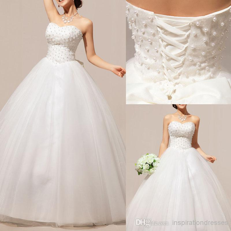 Cinderella ball gown wedding dresses 2016 pearls for Cinderella wedding dress up