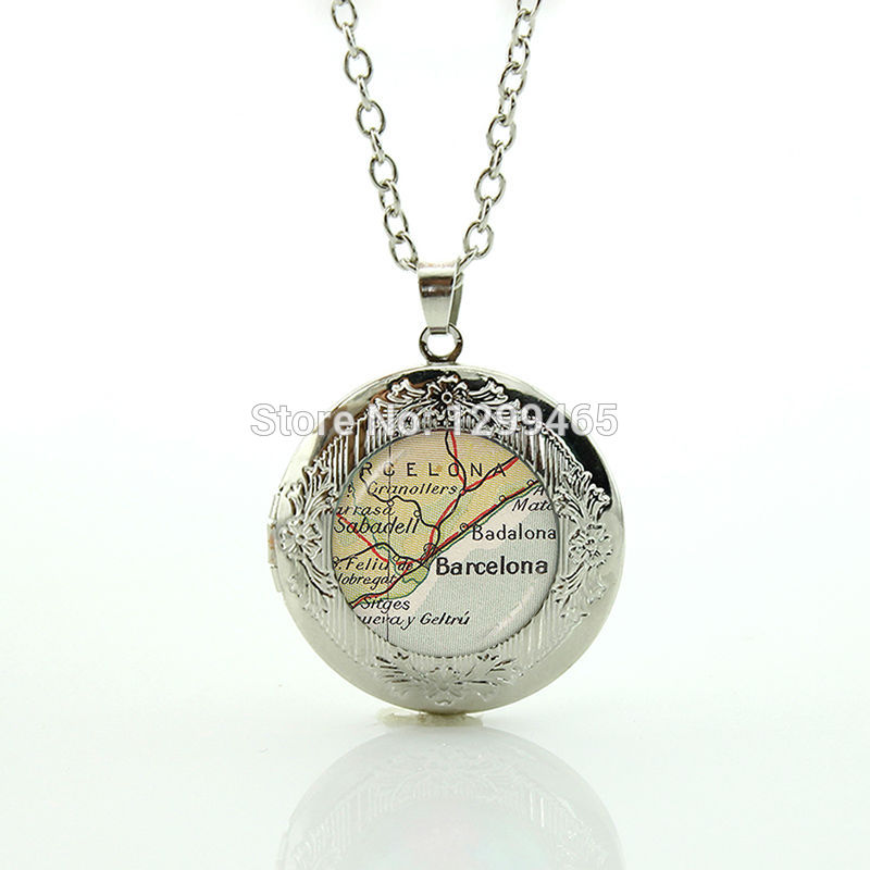 Classic Collection Barcelona map jewelry leisure series essential simple design Spain map elegant and charming winter style N897(China (Mainland))