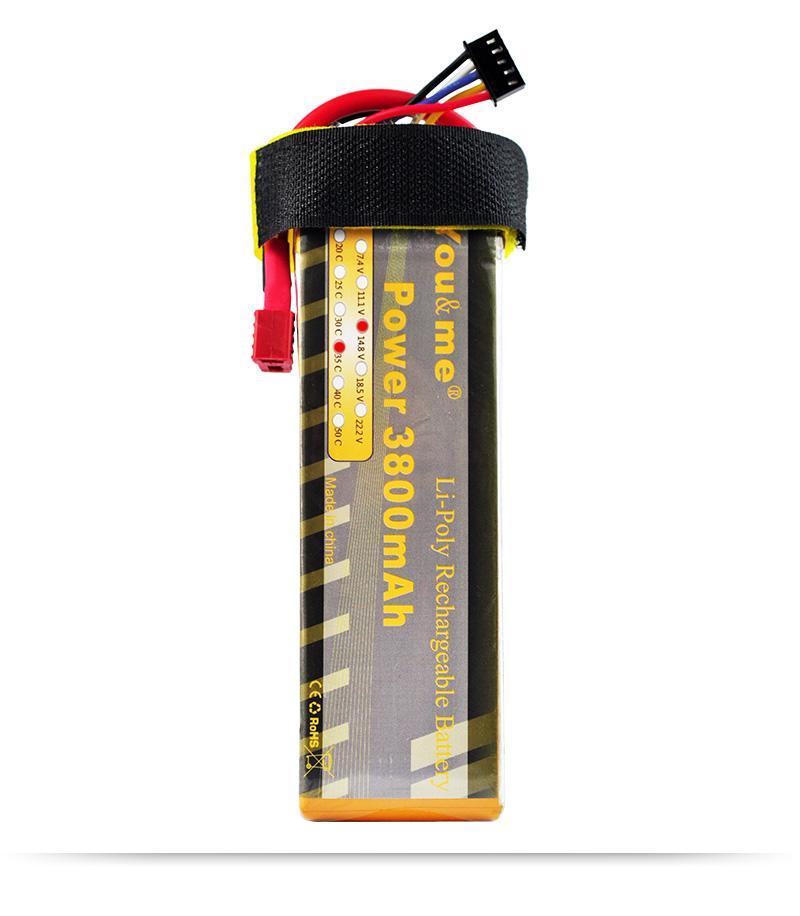 2pcs lot You me 14 8V 3800MAH 35C MAX 70C AKKU LiPo RC Battery For rc