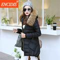 Asymmetirc Length Winter coat women 2016 New Winter Plus size Lady Coats and Jacket Female Medium