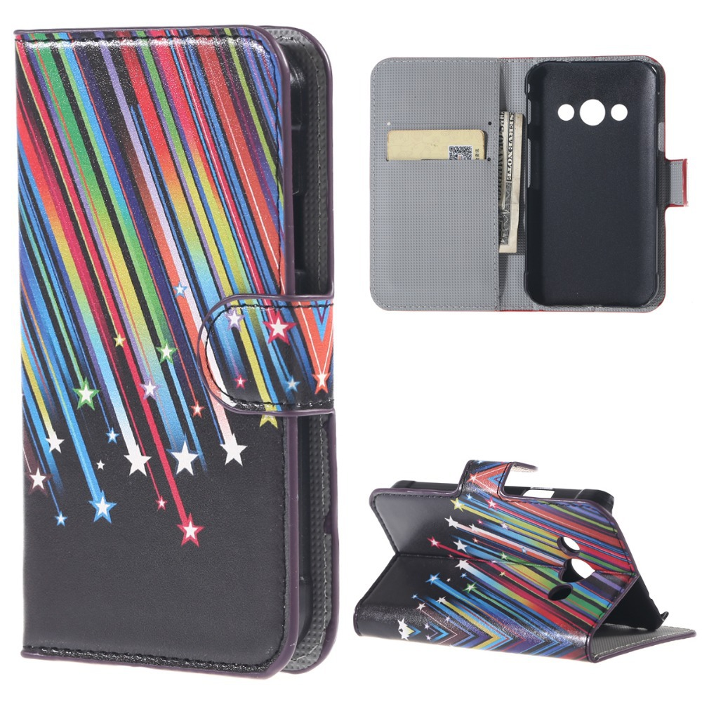 ZeWoo Folio PU Leather Case - N013 / Colorful Meteor - for samsung Galaxy Xcover 3 (G388F) Wallet Cover(China (Mainland))