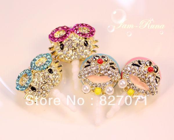 Free Shipping 11PCS/Lot Jewelry Doraemon Hello Kitty Dust Plugs(China (Mainland))