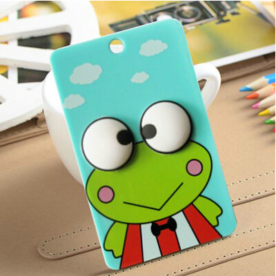 Portable cute 3D cartoon Silicone String novelty door Metro ID bus card case Holder with key chain hook(China (Mainland))