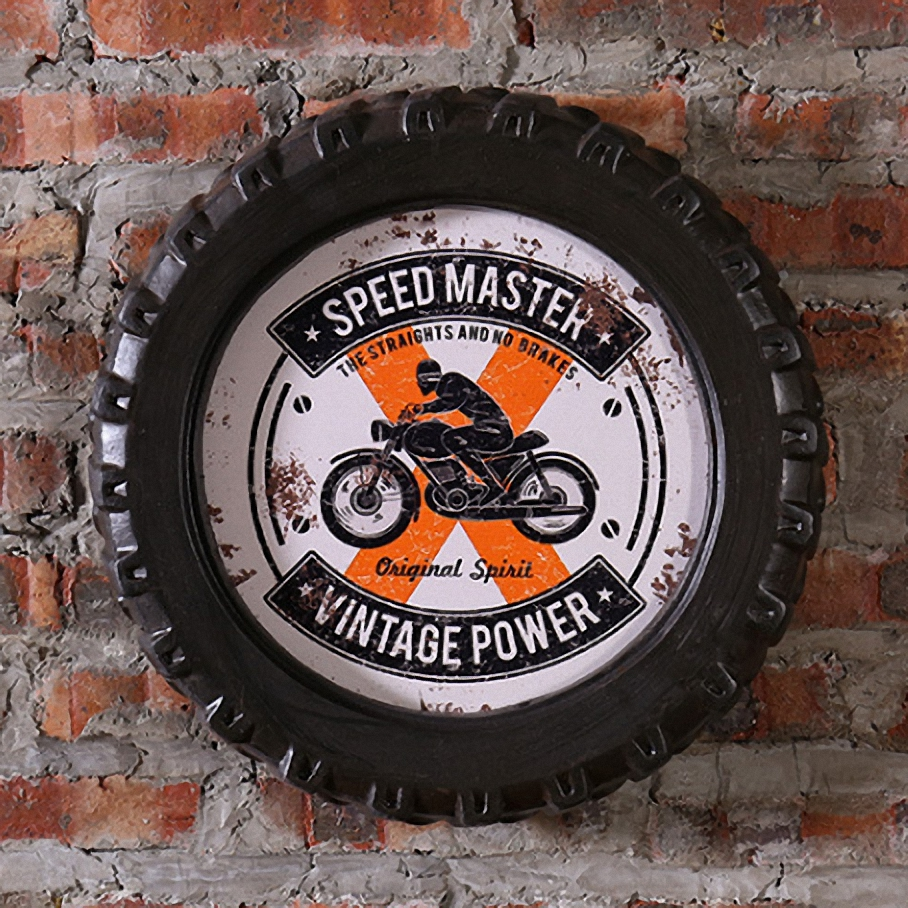 SPEED MASTER VINTAGE POWER Car Tires MDF Foaming Sign Vintage Wood Painting Cafe Bar Decor Retro Mural Poster Wall Sticker(China (Mainland))