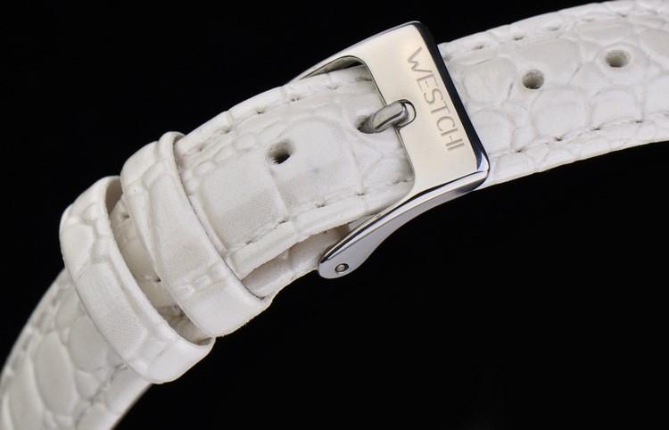 2016 новый дизайн женщин часы лучший бренд WESTCHI часы водонепроницаемые 30 м кожаный ремешок diamond dial наручные часы