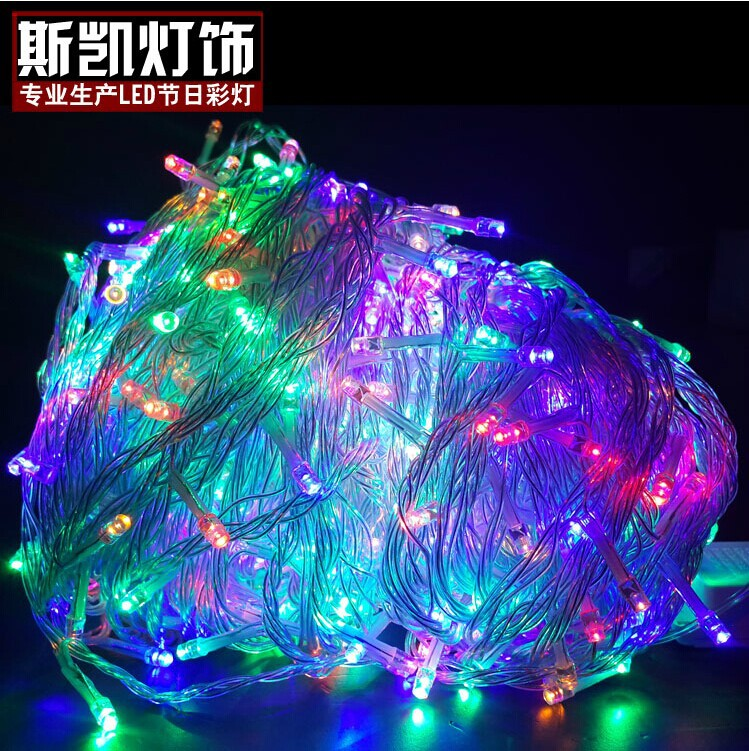 LED Christmas lights wholesale 100M 800LED Fairy String Lights for Christmas Xmas Wedding Garland party decoration 220V EU-UK-US(China (Mainland))
