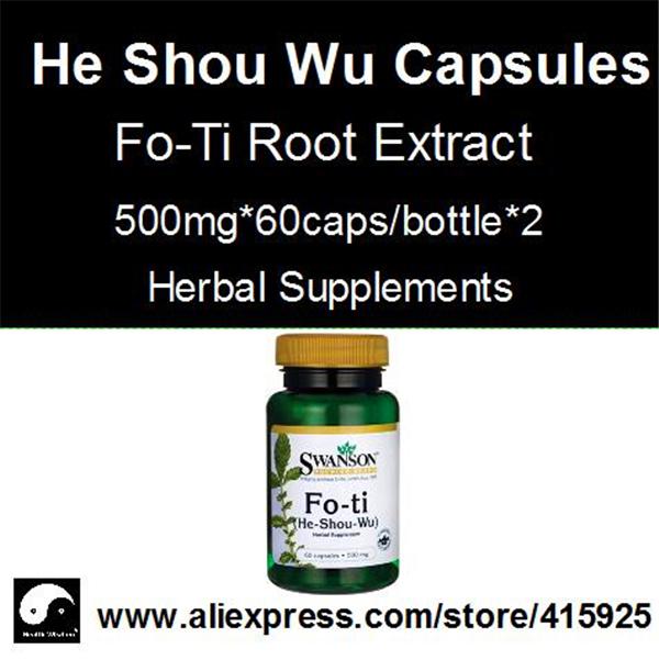 Fo-Ti Root Extract Powder Capsules Chinese He Shou Wu Herbal Supplements Polygonum Multiflorum(China (Mainland))