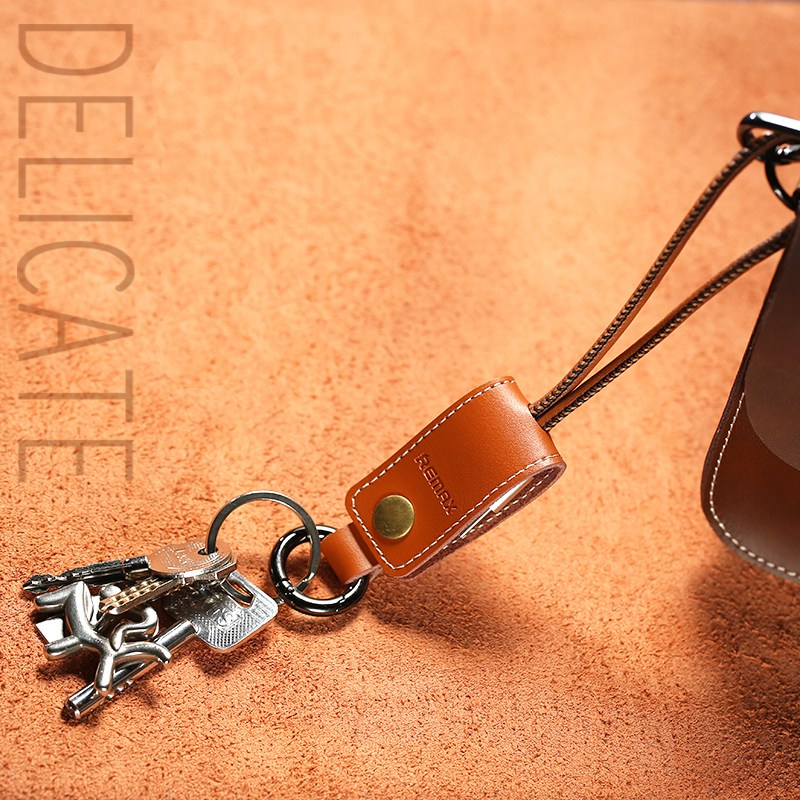 Leather Keychain USB Cable for Apple iPad/iPhone