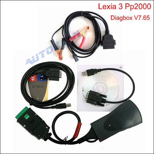 Lexia3 PP2000 V48/V25 Lexia 3 Diagnostic Tool With Diagbox 7.65 For Citroen Peugeot Pp2000(China (Mainland))