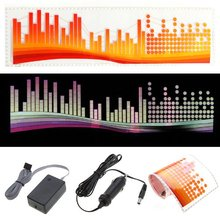 Buy EDFY Colourful Flash Car Sticker Music Rhythm LED EL Light Lamp Sound Activated Equalizer-Dot color bar for $15.15 in AliExpress store