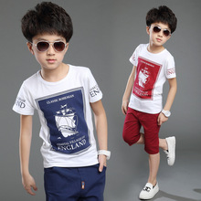 2016 Children clothing set New arrival 5-15 years boys summer clothing set cotton clothing set for boys kids shirt And pants