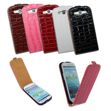 Buy Luxury S3 Crocodile Texture Leather Case Flip Cover Samsung Galaxy I9301 S3 Neo S3 Duos GT-I9300i S3 I9300 S III + Free Film for $3.73 in AliExpress store