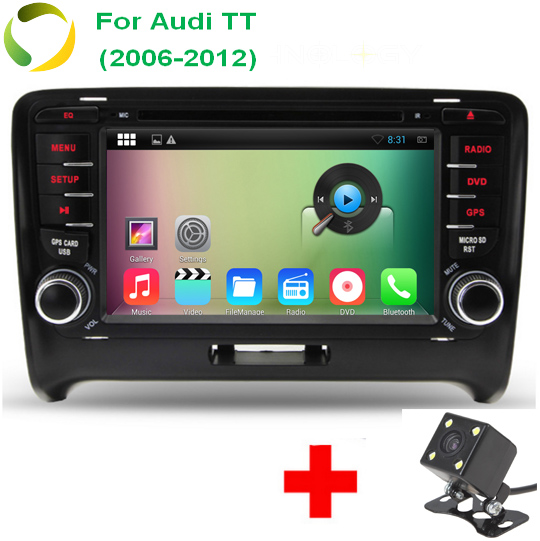Quad Core HD 1024*600 Auto Android 4.4.4 PC 2 Din Car DVD Video Player For Audi TT 2006-2012 With OBD DVR 3G WiFi<br><br>Aliexpress