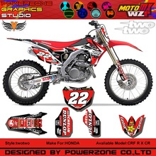 CR CRF 250 450 CR250F X CR450F FX 22 Style Customized Graphics Background Decals Stickers Motorcycle Dirt Bike MX Racing Part - PowerZone Co.,Ltd store