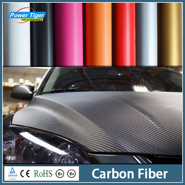 30x152cm Car Styling 3D 3M Waterproof DIY Car Carbon Fiber Vinyl Wrapping Film Car Sticker With Retail packaging Direct Selling(China (Mainland))