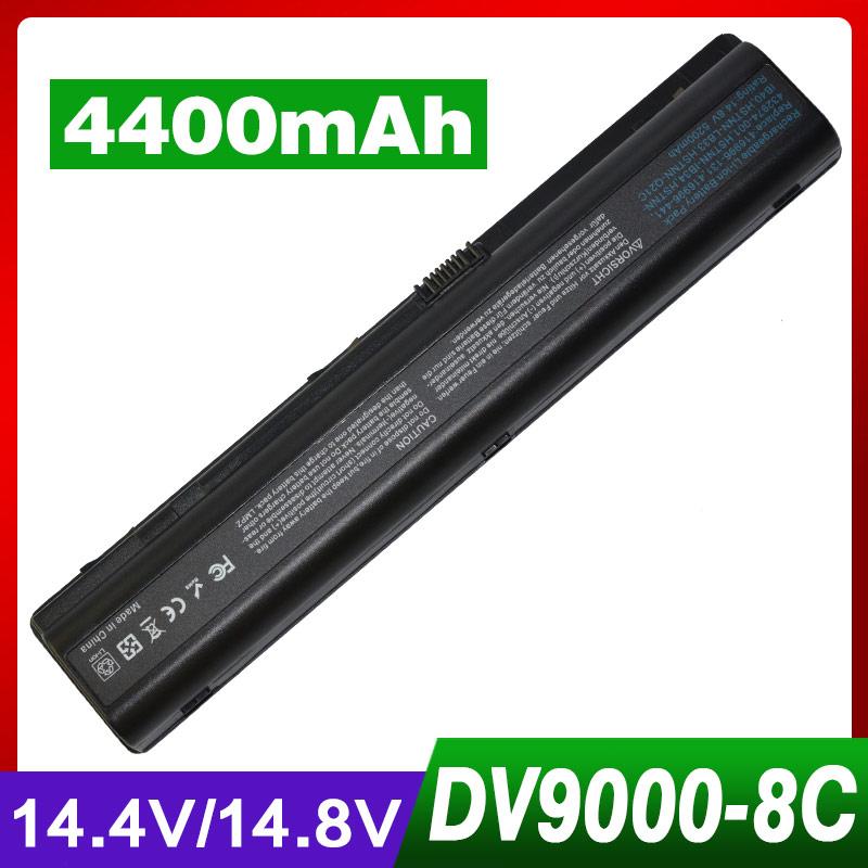 4400mAh laptop battery for HP HSTNN-IB40 HSTNN-LB33 HSTNN-Q21C Pavilion dv9000 dv9100 dv9200 dv9500 dv9600 dv9700(China (Mainland))