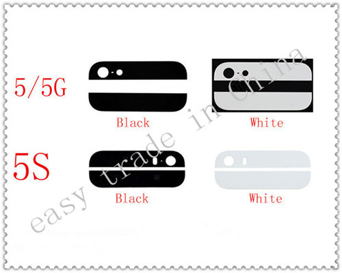 10* sets /10 lot Top and Bottom/lot For iPhone 5S Back Glass Cover W/ 3M Adhesive Sticker Back Housing Glass parts Free Shipping
