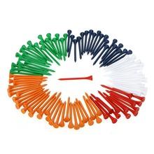 New Arrival 100Pcs/Set 69mm Mixed Color Wooden Golf Tees Wood Golf Tees Golf Accessaries(China (Mainland))