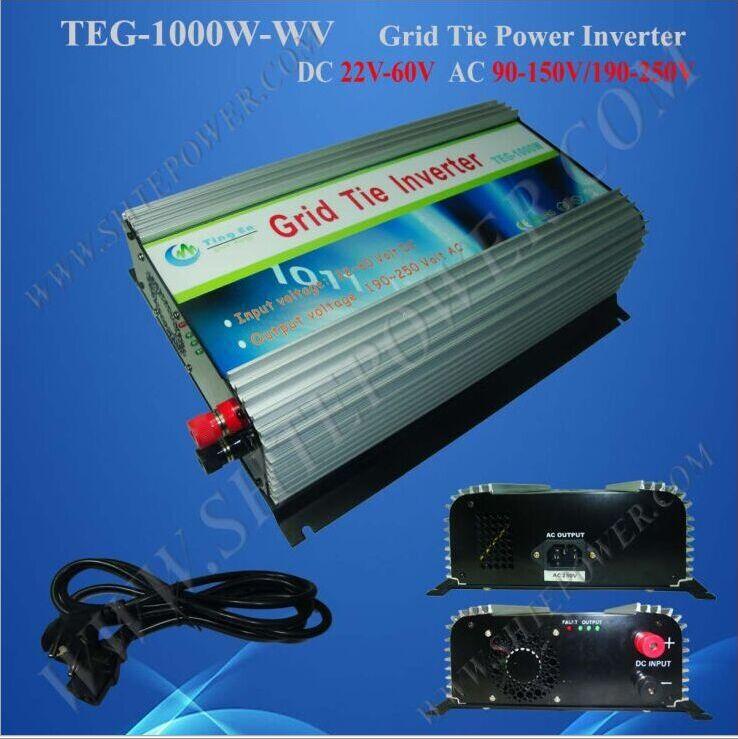 Free shipping solar power inverter 48vdc to 220vac 1000w grid tie inverter(China (Mainland))