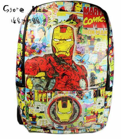 Comics Avenger Iron Man Ironman Backpack School Bag Gift<br><br>Aliexpress