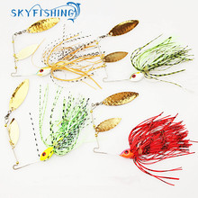 Buy 4pcs/lot spinner bait 18G metal lure hard fishing lure Spinner Lure Spinnerbait Pike swivel Fish tackle wobbler free for $6.98 in AliExpress store