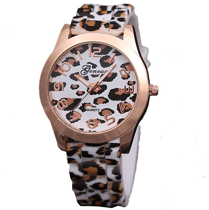 TOP Animal Print Fashion Women Watch Geneva Style Leopard Brown Spots Wristwatch Quartz Relogio Femenino Para Dama(China (Mainland))