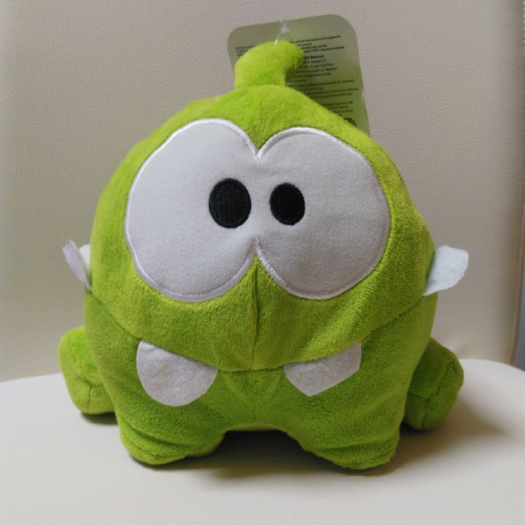 """Free shipping Cut The Rope 8"""" Happy Om Nom Plush doll stuffed toys for birthday gift(China (Mainland))"""