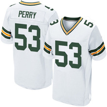 Men's #53 Nick Perry Elite White Jersey 100% stitched(China (Mainland))