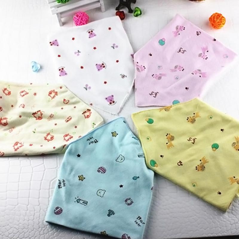 Cute Cotton Baby Towel Toddler Newborn Triangle Scarf Girls Feeding bibs Burp Cloths YE1055
