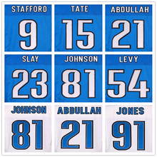 20 Barry Sanders 81 Calvin Johnson jerseys 91 Ndamukong Suh 9 Matthew Stafford blue 23 Darius Slay 54 DeAndre Levy Golden Tate(China (Mainland))