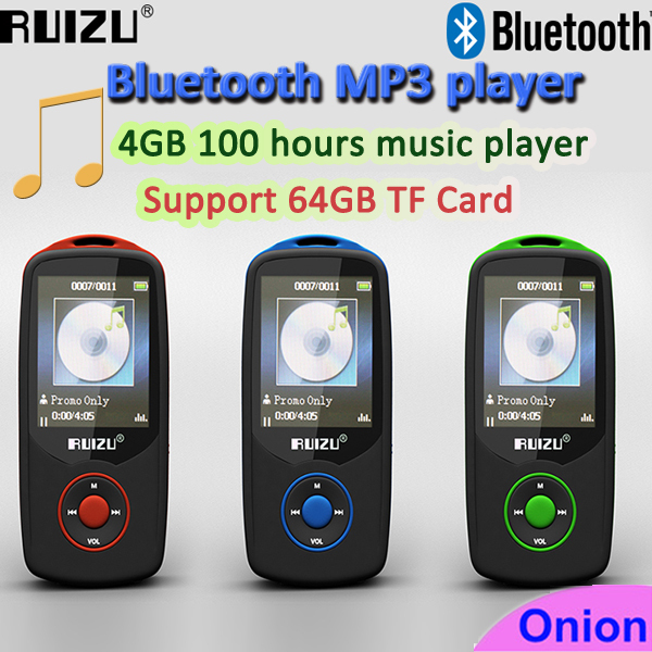 2015 New Arrive Bluetooth MP3 Player with 4GB storage and 1.8 Inch Screen 100h Original Walkman mp3 music player(China (Mainland))